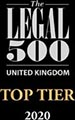 Legal 500 - Top Tier Firm 2020