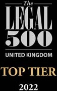 Legal 500 - Top Tier Firm 2021